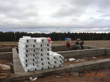 Фото отчет начала строительства